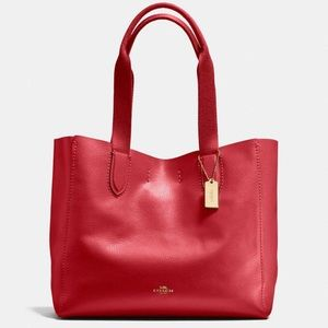 Coach NWT Red Derby Tote Bag